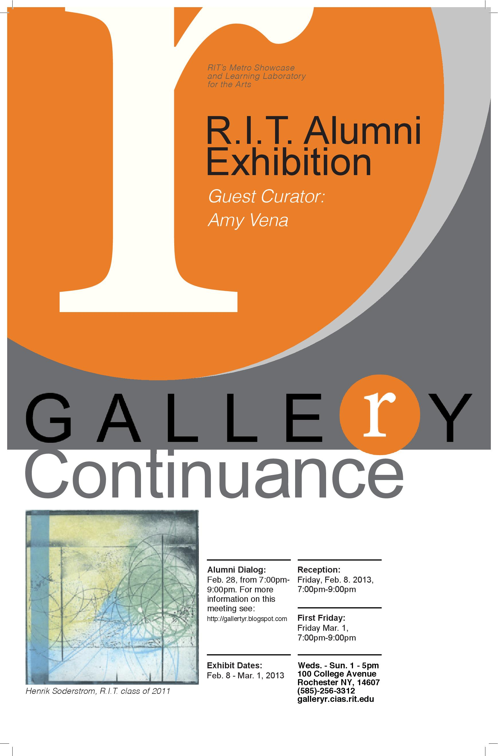 R.I.T. Alumni Exhibition: Continuance – Gallery r on